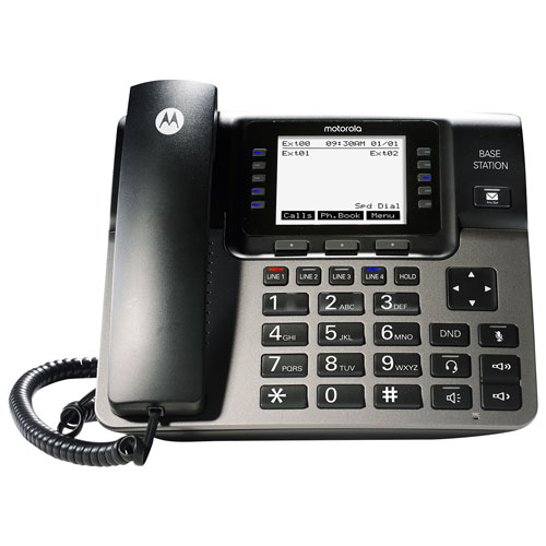 Motorola 1-4 Line Corded Phone System With Caller ID and Voice Mail