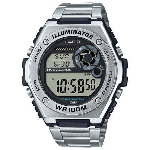 Casio MWD-100 50.7mm Digital Chronograph Sport Watch - Silver