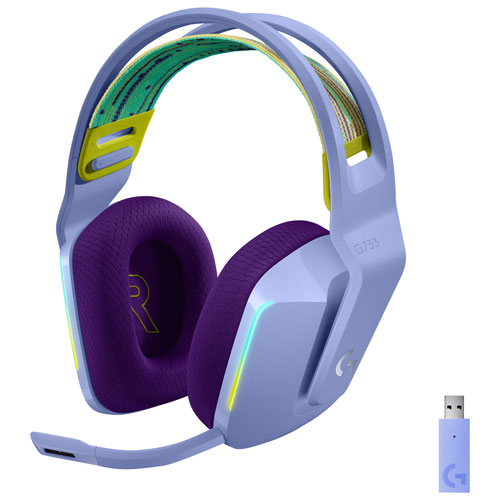 Logitech G733 LIGHTSPEED RGB Wireless Gaming Headset - Lilac