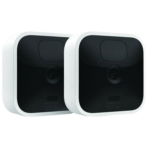 Système de surveillance à caméras IP d'intérieur sans fil 1080p de Blink - Ensemble de 2 - Blanc