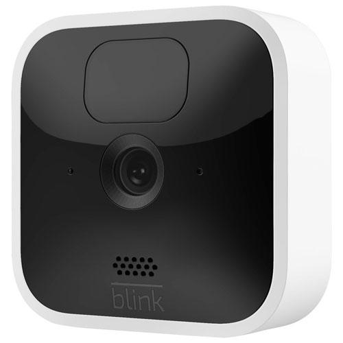 Caméra de surveillance IP supplémentaire d'intérieur sans fil 1080p de Blink - Blanc