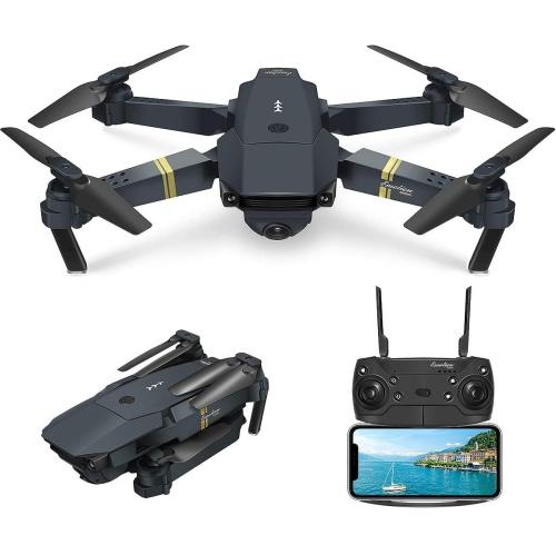 Mini Wi-Fi FPV LS avec caméra HD 4K MP mode altitude Drone quadricoptère pliable RC prêt à l'emploi N° classique noir/noir