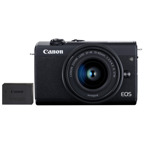 Canon EOS M200 Mirrorless Camera with 15-45mm IS STM Lens Kit & Extra Battery Pack - Only at Best Buy