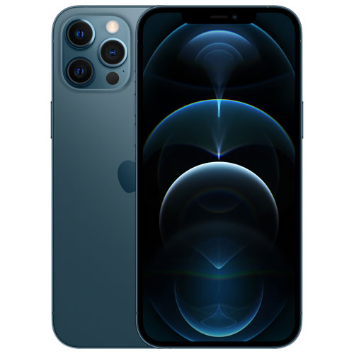 iPhone 12 Pro Max de 128 Go d'Apple offert par Bell - Bleu pacifique - Financement mensuel
