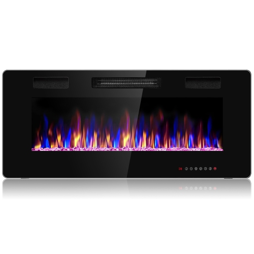 Costway 42 Electric Fireplace, Fake Fireplace Heater Wall