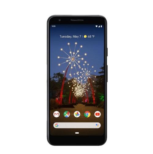 Google Pixel 3a   juste noir   64 Go   Remis à neuf