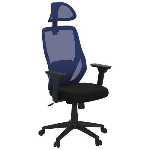 Fauteuil de bureau ergonomique en filet à dossier haut Ivy de Bestar - Bleu/Noir