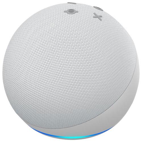 Haut-parleur intelligent Echo Dot d'Amazon avec Alexa - Blanc glacier