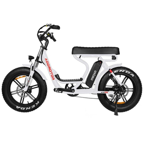 """Addmotor M-66 R7 Electric Bicycles Powerful 750W 48V 16Ah Step-Thru Electric Bikes for Adults, Commuter 20"""" Mountain Snow Beach City E-Bike with Foot"""