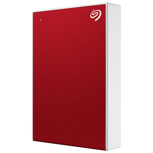 Seagate One Touch 4TB USB 3.0 Portable External Hard Drive - Red