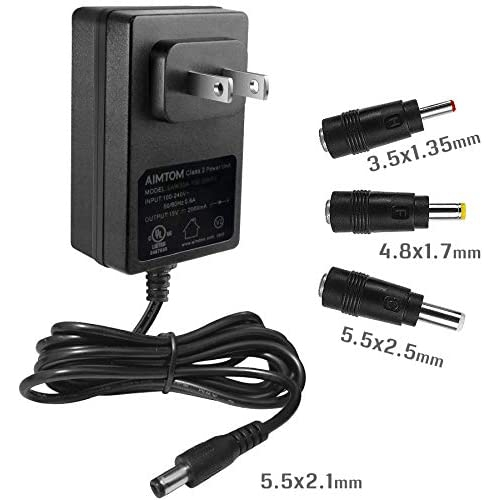 Ul Listed 15v 2a Power Supply 100 240v Ac To 15vdc 2000ma Wall Charger Replacement Adapter With 5 5mm X 2 1mm 2 5mm Best Buy Canada