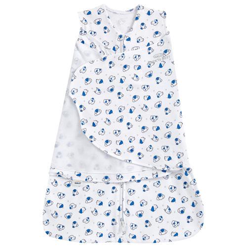 HALO SleepSack Cotton Swaddle - 0 to 3 Months - Doggy