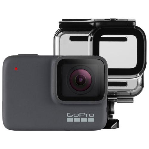 Gopro Hero7 Silver Waterproof 4k Sports Helmet Camera Bundle Best Buy Canada