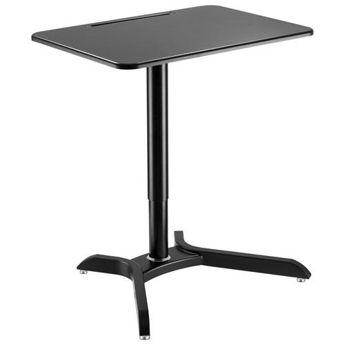 """TygerClaw 28""""W Sit-Stand Workstation Desk - Black"""