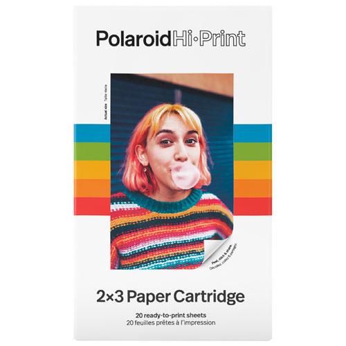 Papier photo de Polaroid pour imprimante photo de poche Hi-Print de Polaroid - 20 feuilles