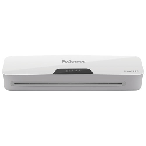 """Fellowes Halo 125 12.5"""" Laminator with Restaurant Pouch Starter Kit"""