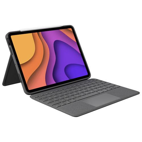 Étui-clavier Folio Touch de Logitech pour iPad Air - Gris