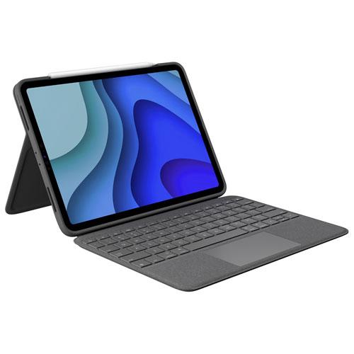 Étui-clavier Folio Touch de Logitech pour iPad Pro de 11 po - Gris