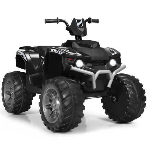 Costway 12V Kids 4-Wheeler ATV Quad Ride On Car w/ LED Lights Music Bluetooth USB
