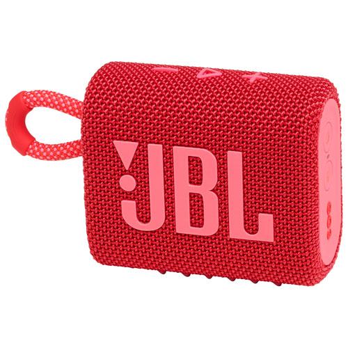 JBL Go 3 Waterproof Bluetooth Wireless Speaker - Red