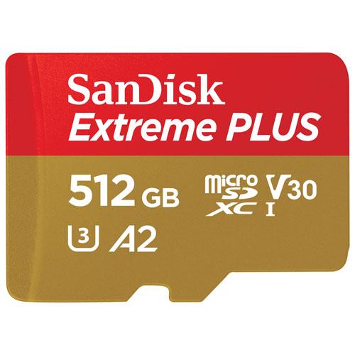 SanDisk Extreme Plus 512GB 170MB/s microSD Memory Card