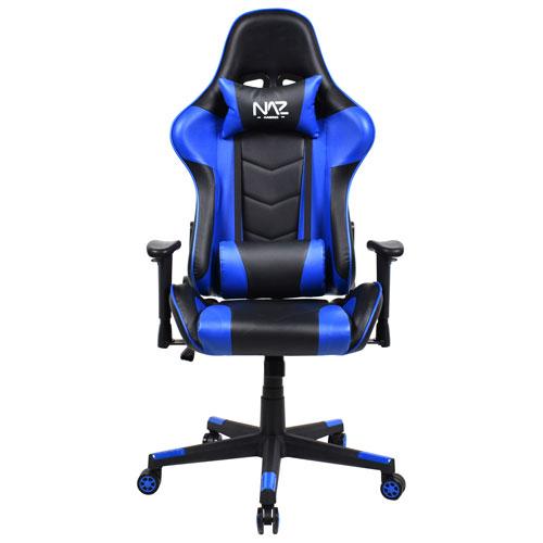 Naz Pro Ergonomic Faux Leather Gaming Chair - Blue/Black