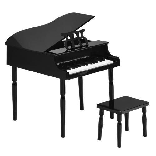 Costway 30-Key Classic Piano Wood w/ Bench & Music Rack