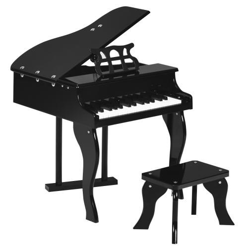 Costway Classic 30 Key Wooden Piano w/ Bench & Music Rack