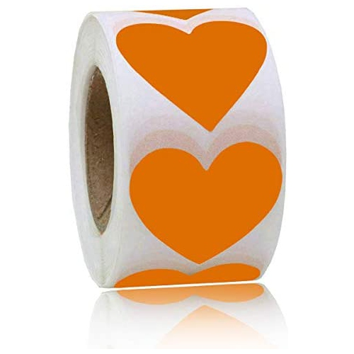 Heart Stickers Thank You Sticker Decorative Craft Labels For Gift Box 2 Inch Adhesive Label 500 Per Roll 1 Roll Best Buy Canada