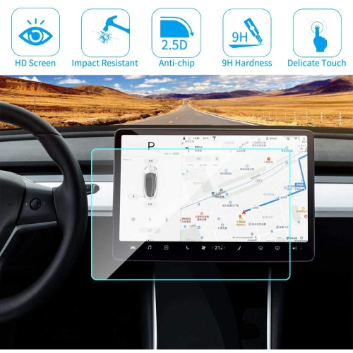 for Tesla Model 3 Screen Protector, 15 Inch 9H Scratch ...