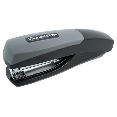 PraxxisPro Ionic Grip Office Stapler Red Ergonomic Full Strip Desktop Stapler