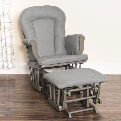 Forever Eclectic Cozy Gliders and Ottoman Set - Dapper Grey