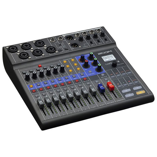 Zoom LiveTrak 8-Channel Podcast Mixer
