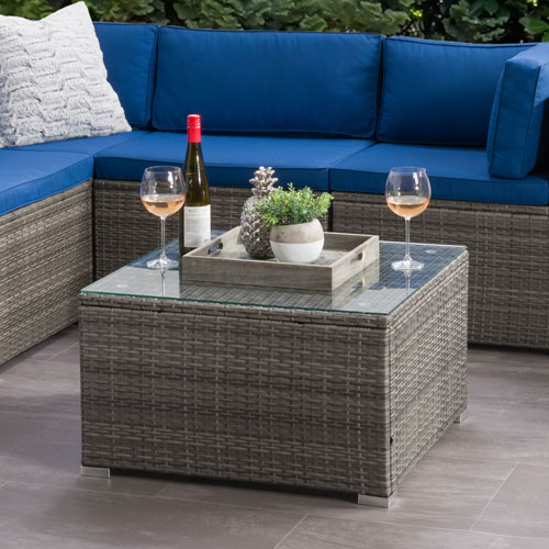 Parksville Modern Square Patio Coffee Table - Grey