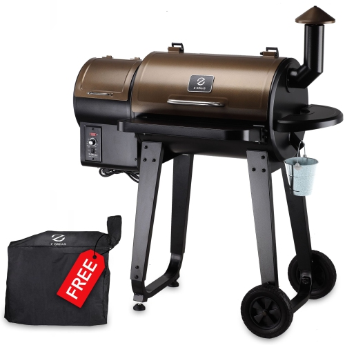 Z GRILLS ZPG-450A Wood Pellet Grill & Electric Smoker BBQ Combo with Auto Temperature Control, 2021 Upgrade