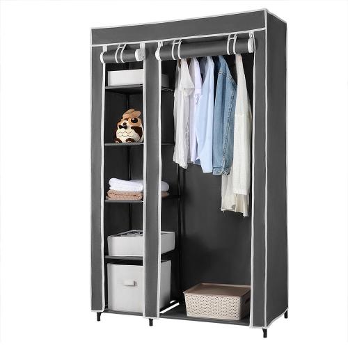 SortWise Clothes Closet Portable Wardrobe Closet Organizer Non-woven Fabric Organizer Hanger Rack