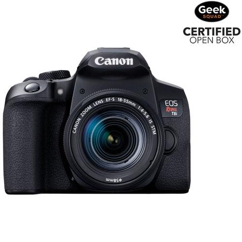 App. photo reflex numérique EOS Rebel T8i de Canon avec objectif 18-55 mm IS STM - Boîte ouverte