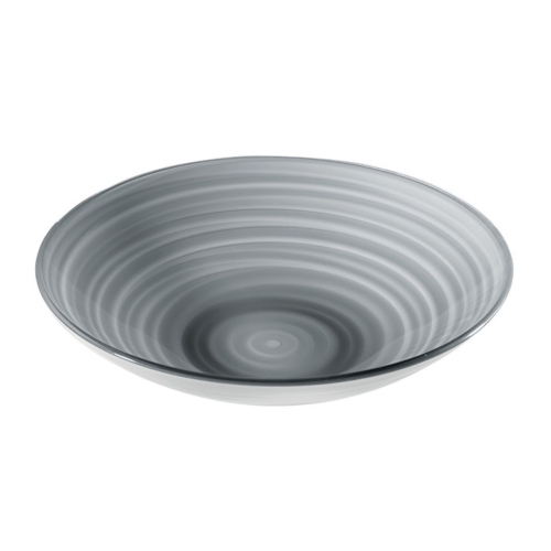 Guzzini Twist Centerpiece/Fruit Bowl 4600cc - Sky Grey - Made of 100% Recycled Material and High-Grade acrylic Material