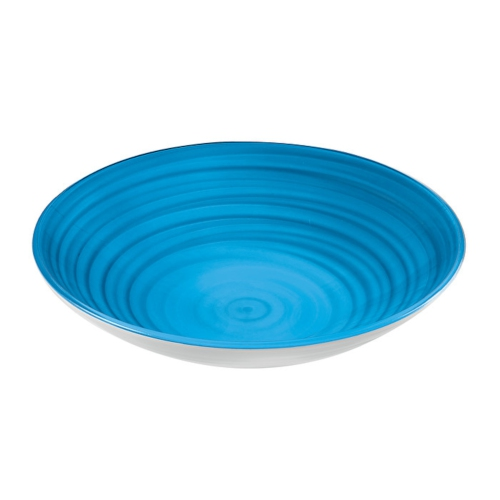 Guzzini Twist Centerpiece/Fruit Bowl 4600cc - Clear Blue - Made of 100% Recycled Material and High-Grade acrylic Material