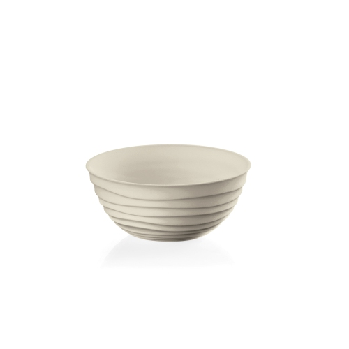 Guzzini Tierra Collection Bowl - Made Entirely by Recycling 2.3 PET Water Bottles - Clay
