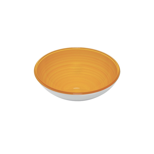 Guzzini Twist Small Bowl 360cc - Yellow - Made of 100% Recycled Material and High-Grade acrylic Material