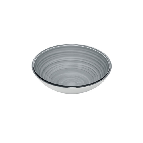 Guzzini Twist Small Bowl 360cc - Sky Grey - Made of 100% Recycled Material and High-Grade acrylic Material