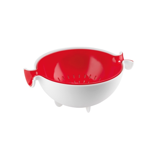 Guzzini Kitchen active Design Colander and Bowl Set 30x25xh12.5cm - Red