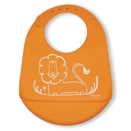 Modern Twist Bucket Bib Dandy Lion, Fresh Orange