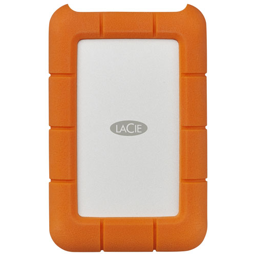 LaCie Rugged 5TB USB-C Portable External Hard Drive for PC/Mac - Orange