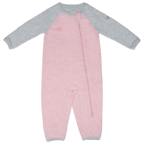Juddlies Raglan Cotton Sleeper - 0 to 3 Months - Pink