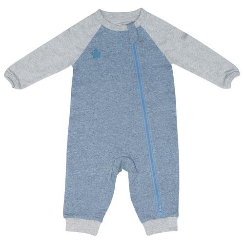 Pyjama en coton Raglan de Juddlies - 6 à 12 mois - Bleu denim