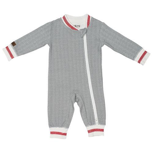 Juddlies Cottage Cotton Jumpsuit - 12 to 18 Months - Driftwood Grey