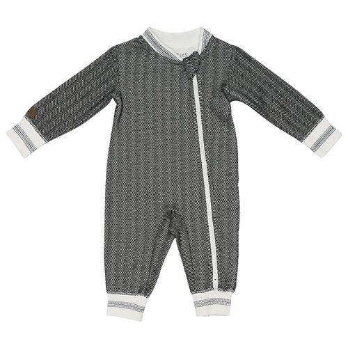 Juddlies Cottage Cotton Jumpsuit - 6 to 12 Months - Bear Black