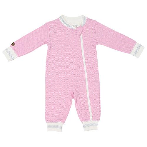 Combinaison-pantalon en coton Cottage de Juddlies - 12 à 18 mois - Coucher de soleil rose